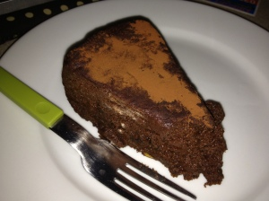 The amazing amaretto and chocolate cake that I indulged in :)